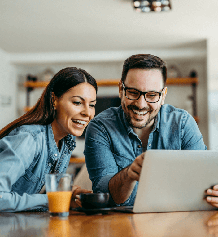 client checking online for debt help with money advice